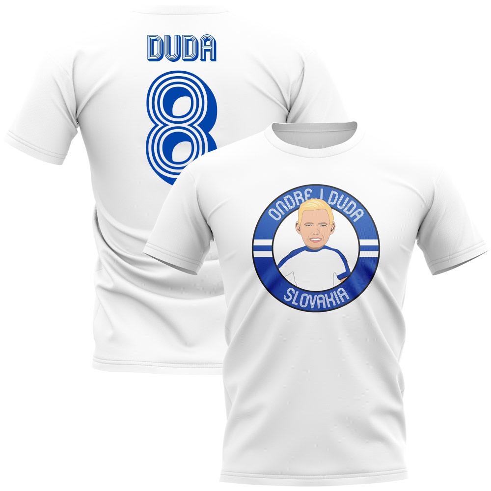 133147b8df756 Futbalové kluby (všetky)   Slovensko Ondrej Duda tričko biele detské ...