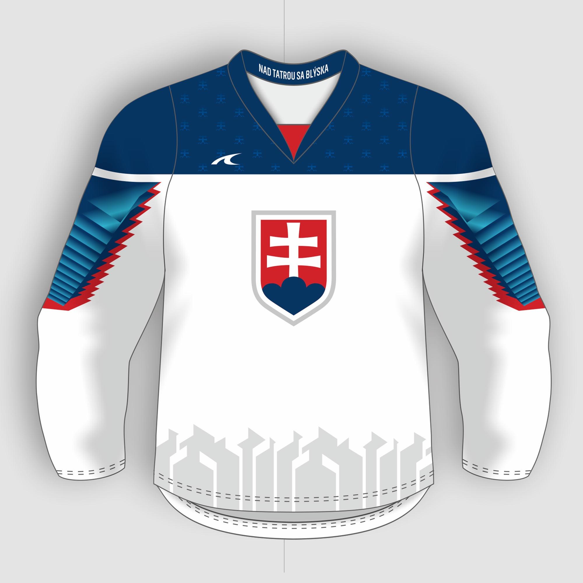 ef63fa146d3cf Slovakia Slovensko dres biely detský - replika (2019) + vlastné meno a číslo