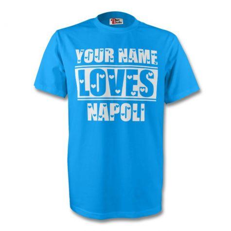 ed97ff05a503 SSC Neapol personalizované tričko s vlastným menom detské