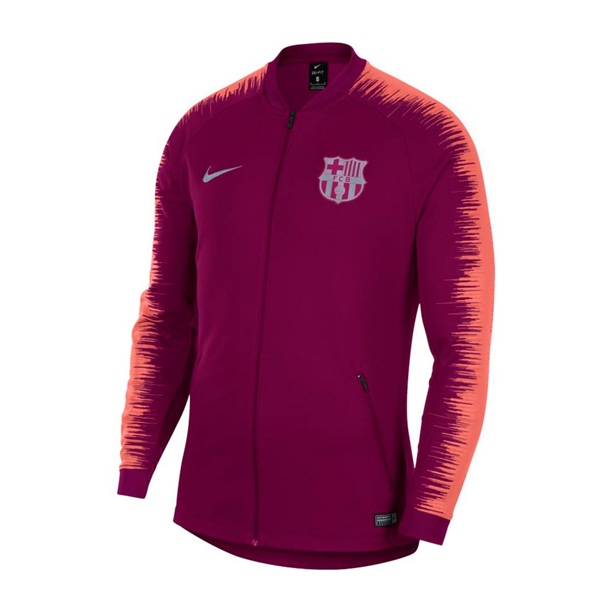 Nike FC Barcelona mikina   bunda bordová pánska 2018-2019 f6dd50ee871