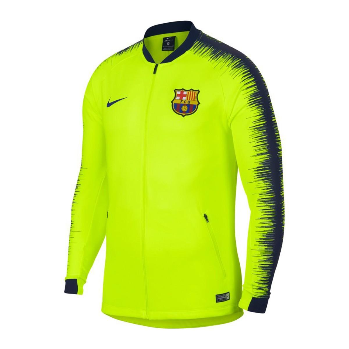 Nike FC Barcelona mikina   bunda žltá pánska 2018-2019 b33b6b84f4a
