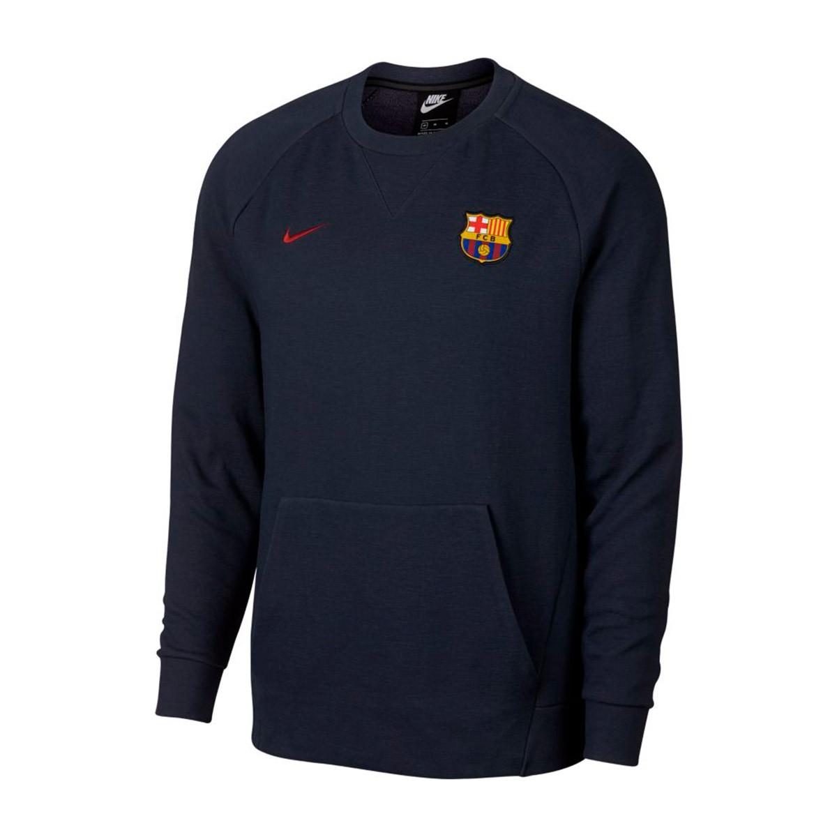 Nike FC Barcelona mikina   sveter modrý pánsky 235a7695605
