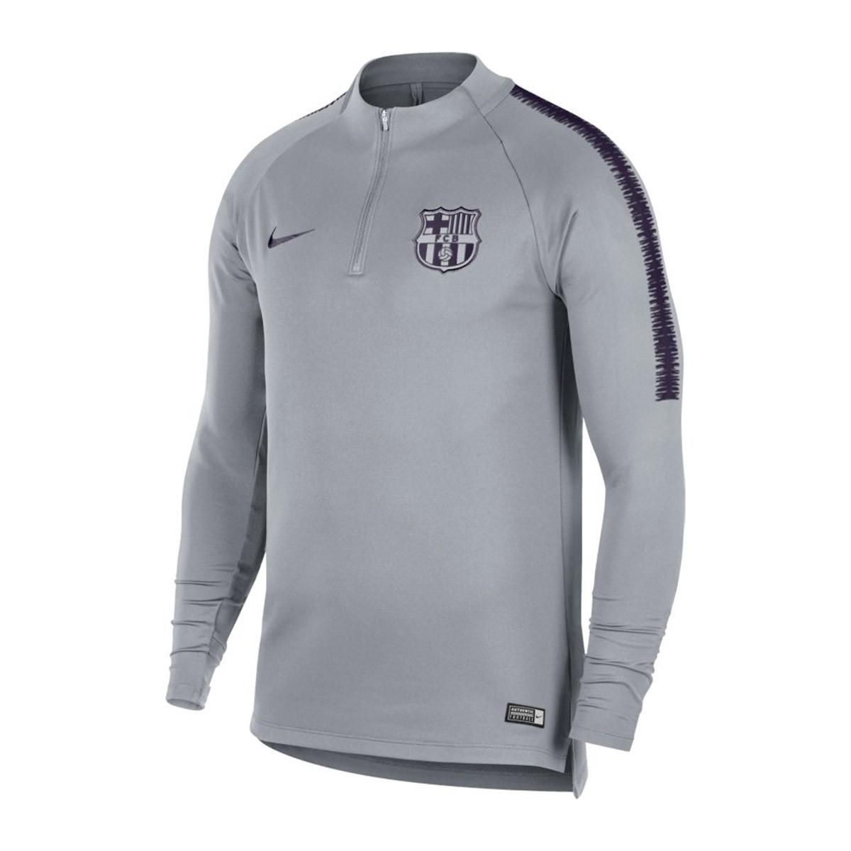 Nike FC Barcelona mikina šedá pánska 2018-2019 a9c2eb78526