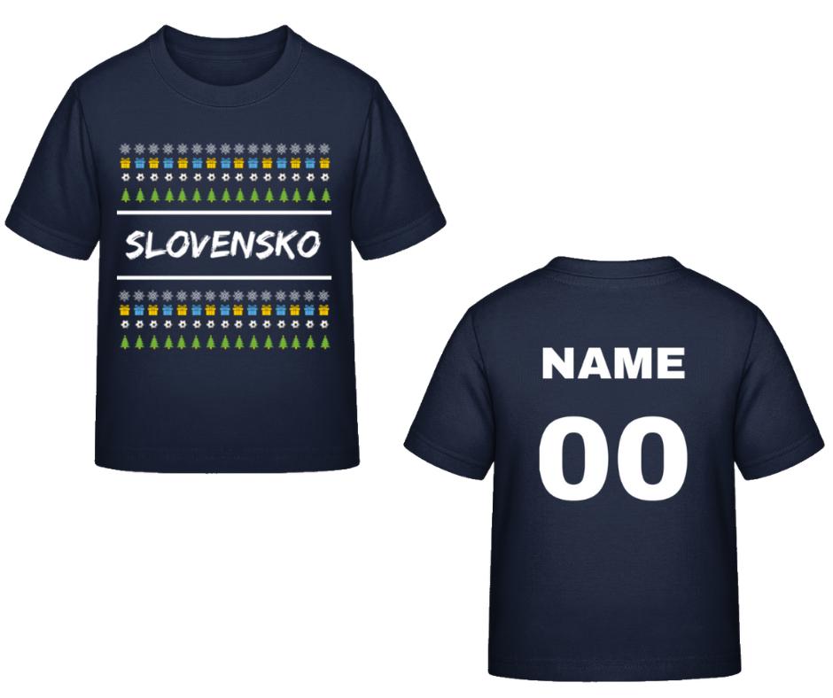 7c7b9fd839c5a Futbalové kluby (všetky)   Slovensko tričko vianočné detské s ...