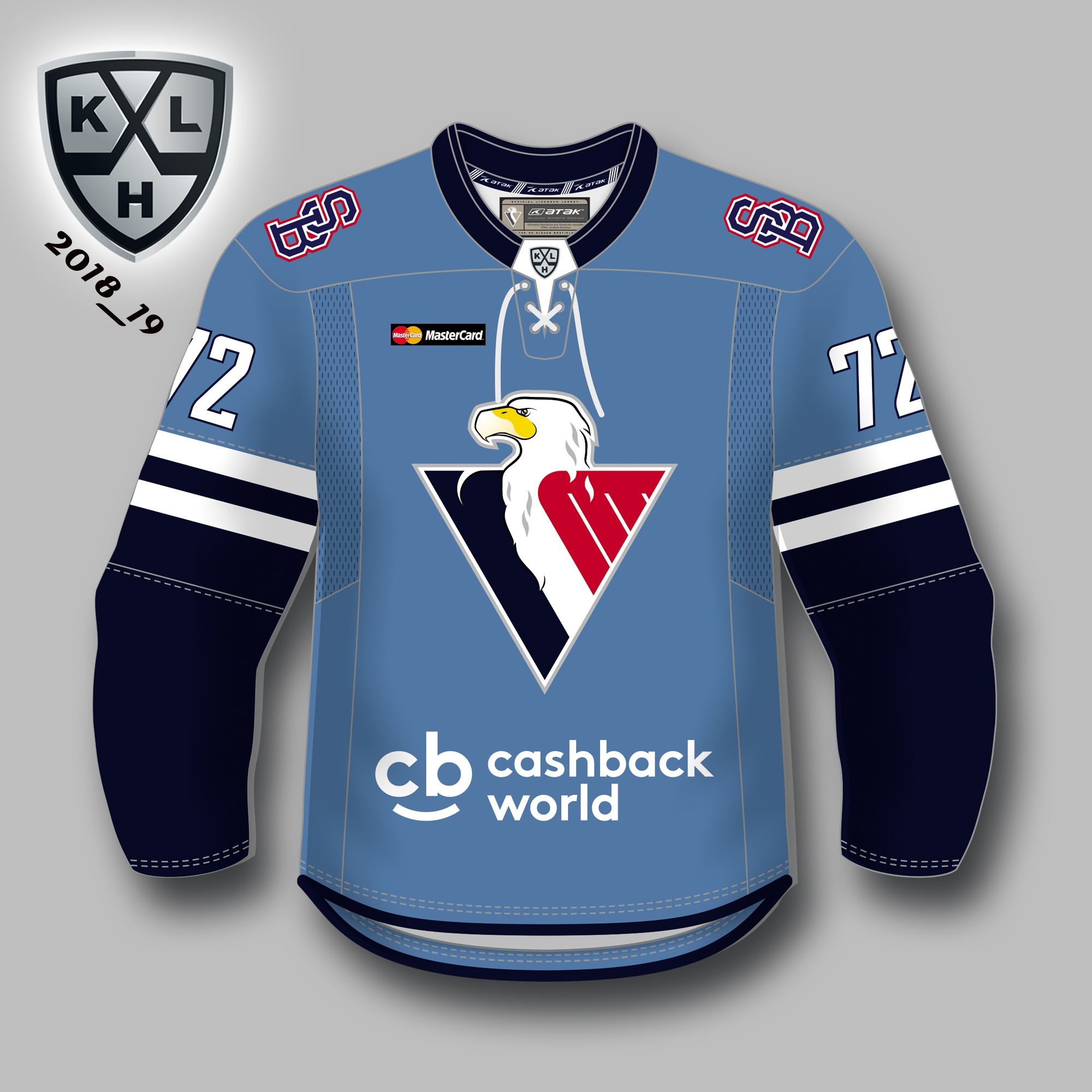 1fbcb55ba054a HC Slovan KHL autentický dres (2018-2019), domáci s vlastným menom a číslom