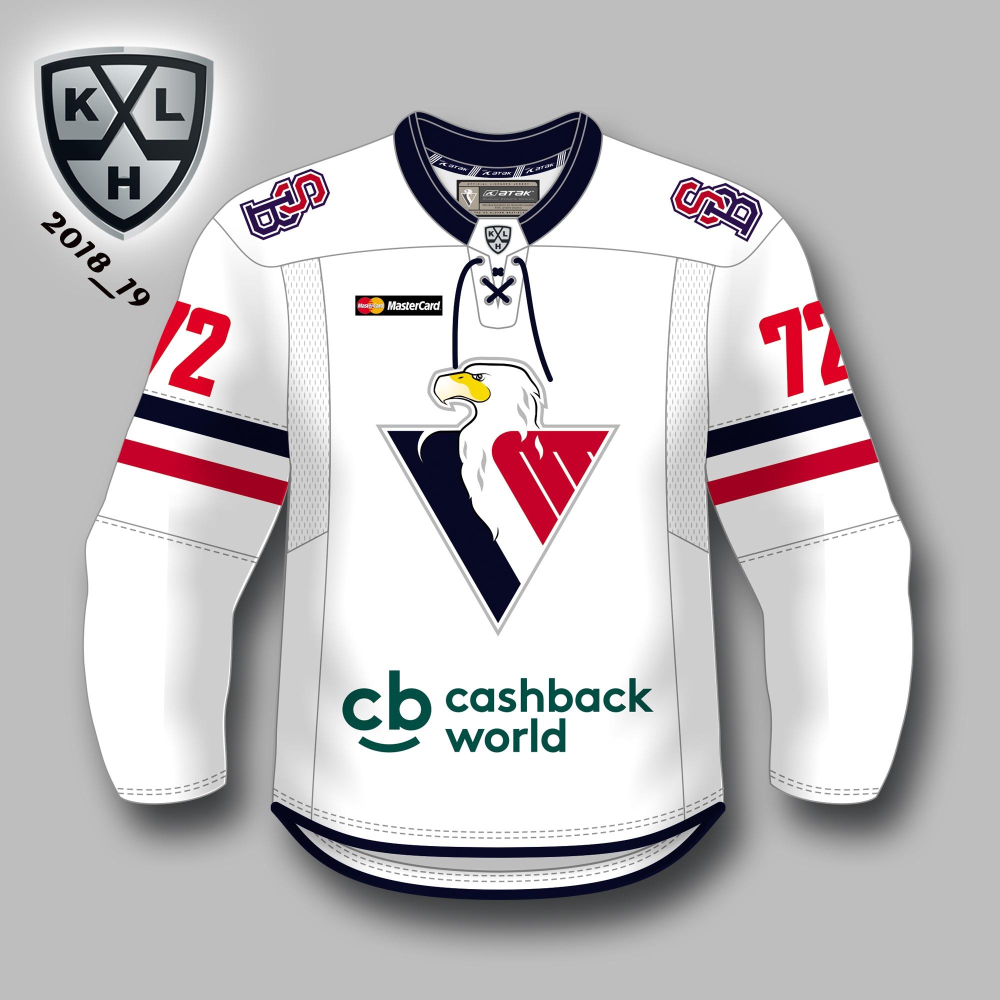 a6c13d9932c20 HC Slovan KHL autentický dres (2018-2019), vonkajší s vlastným menom a  číslom