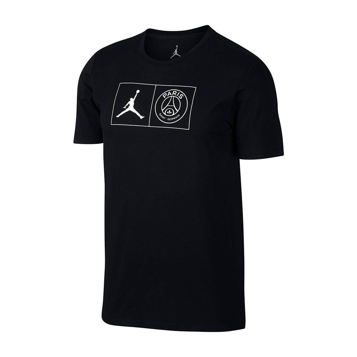 5bddffb72182 Nike Jordan Paris Saint Germain - PSG tričko čierne pánske
