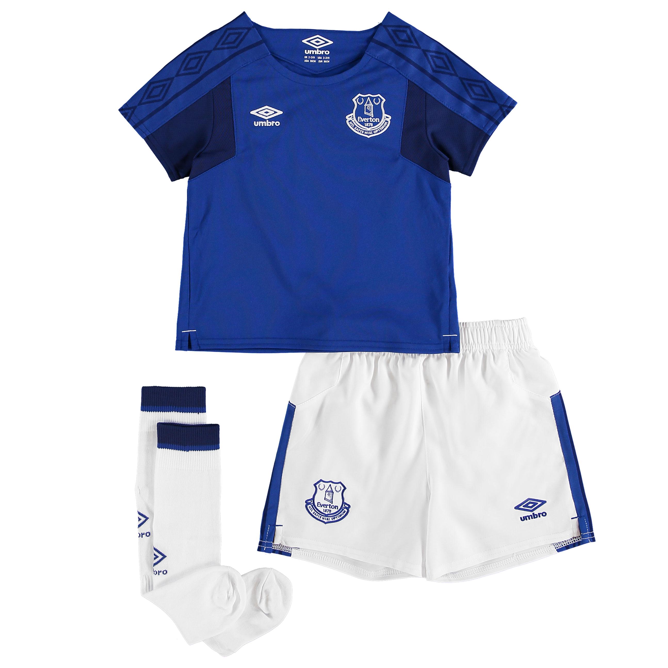 3dff52e21452f Umbro Everton detský set - dres + kraťasy + štucne (2017-2018), domáci +vl.  meno
