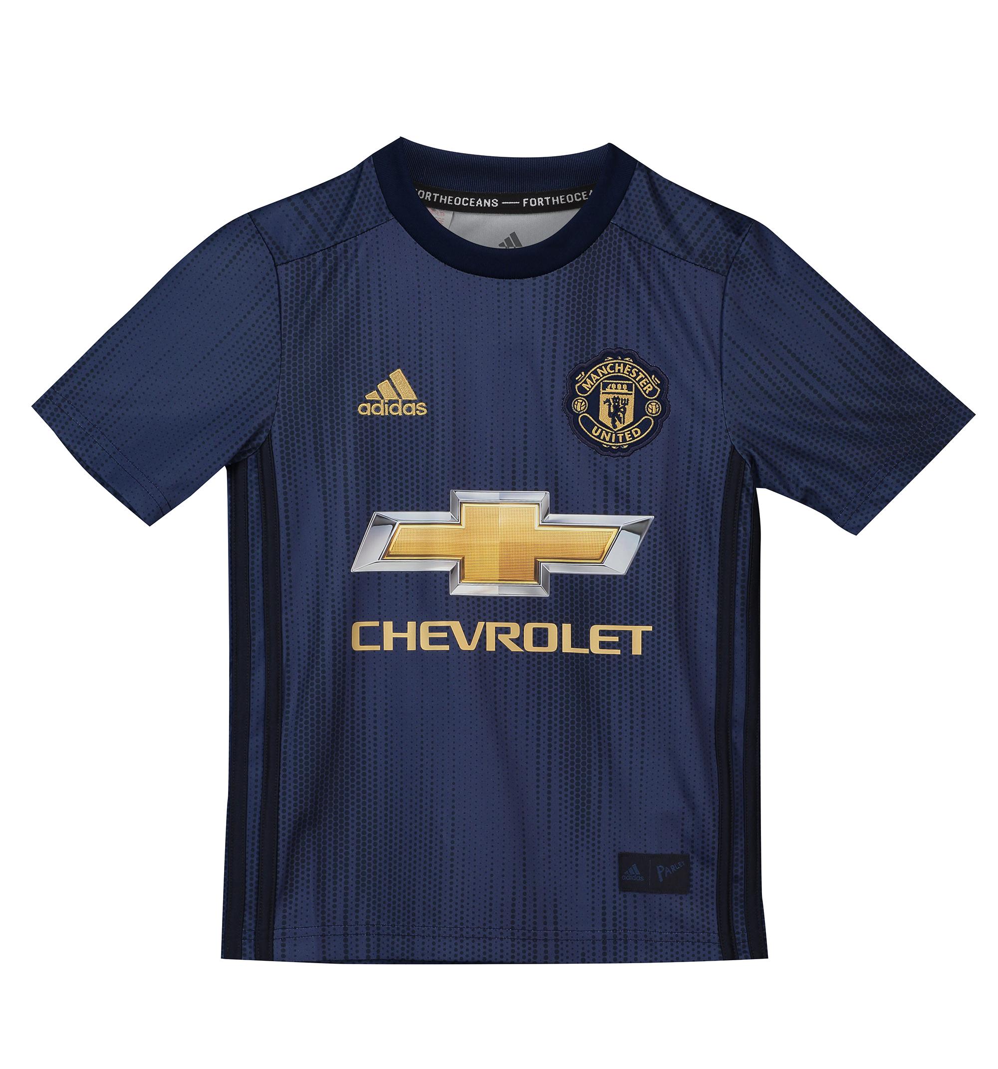 eb28dcea4dd28 Adidas Manchester United dres detský (2018-2019) alternatívny + vl. meno a  číslo