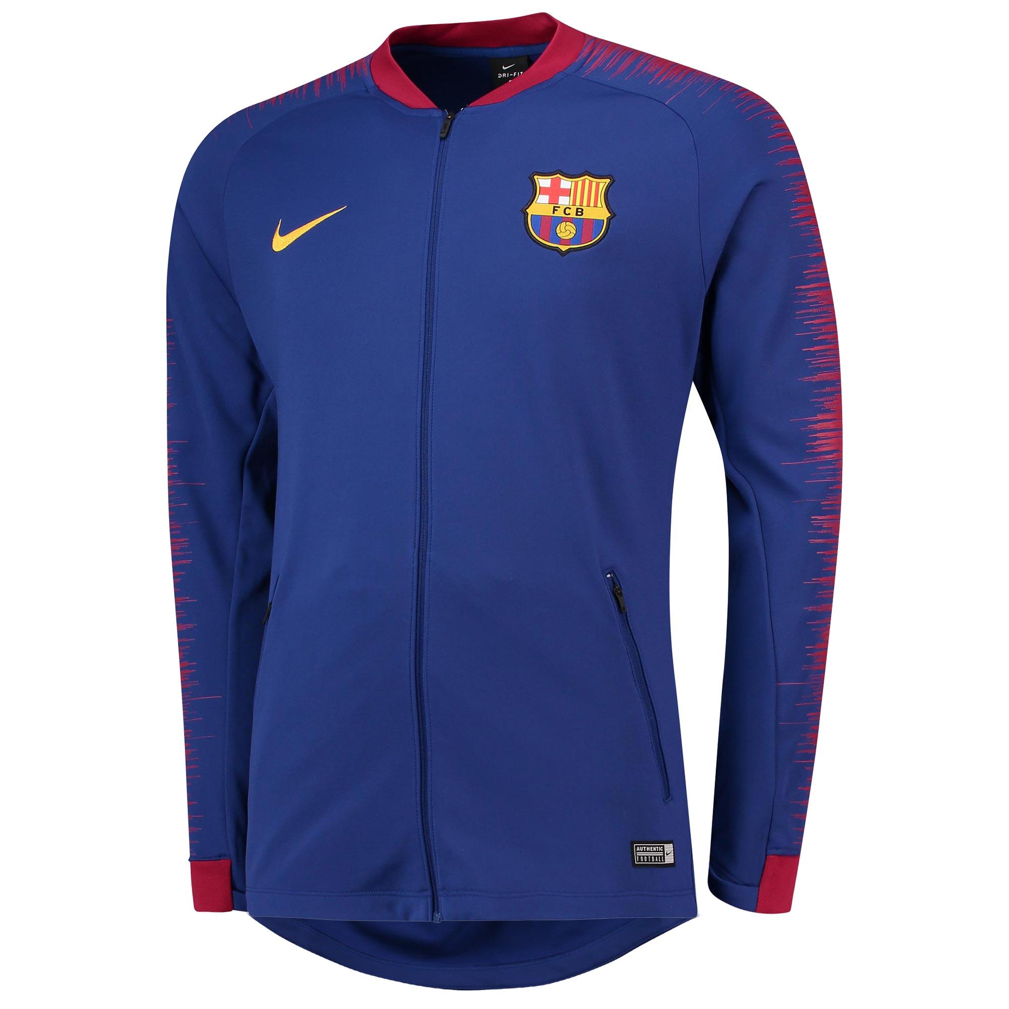 Nike FC Barcelona mikina   bunda modrá pánska 2018-2019 0afce68dae2