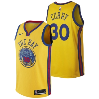 Nike Golden State Warriors Stephen Curry dres žltý detský
