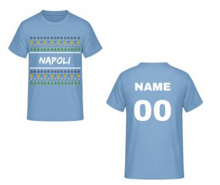 df2d16583c203 SSC Neapol vianočné tričko modré pánske s vlastným menom a číslom empty