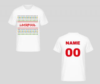 Liverpool FC tričko vianočné biele pánske s vlastným menom a číslom empty 84bf19bbbb