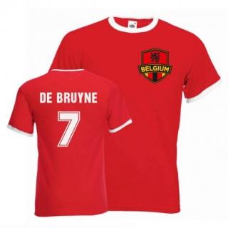 Belgicko Kevin De Bruyne tričko červené pánske empty a99de1874c3
