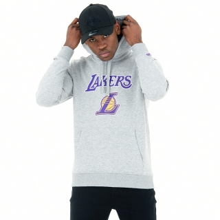 New Era Los Angeles Lakers mikina šedá pánska