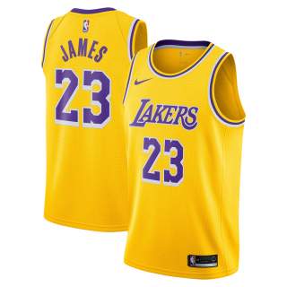Nike Los Angeles Lakers LeBron James Swingman dres žltý pánsky