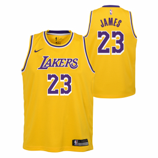 Nike Los Angeles Lakers LeBron James Swingman dres žltý detský