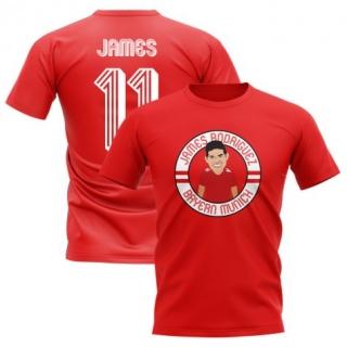 FC Bayern München - Bayern Mníchov James Rodríguez tričko červené detské  empty 4ee54864d05