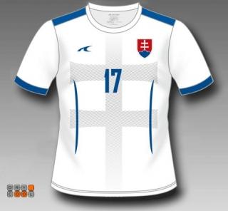 a411ee49e4c1b Futbalový dres Slovensko, biely + vlastné meno a číslo - SKLADOM empty