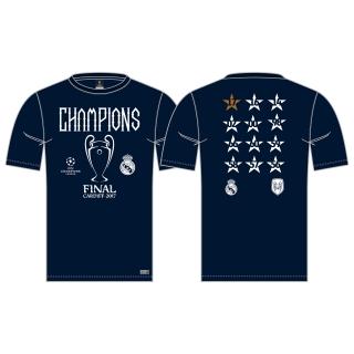 a0e4d0fd6 Real Madrid 12. titul v Lige majstrov DETSKÉ tričko modré empty